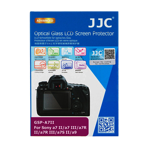 JJC Ultra-thin LCD Screen Protector for SONY a7 II, a7 III, a7R II, a7R III, a7S II, a9