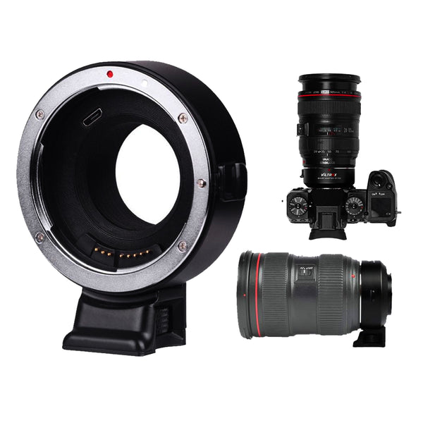VILTROX EF-FX1 Auto Focus Mount Adapter Built-in Electronic Aperture for Canon EOS Tamron Sigma Lens to Fujifilm FX Mirroless Camera X-T3 XH1 X-E3 XT20 X-Pro2 X-T2 X-A X-E1 X-M1 XT1 XPRO2 X-T100 XF10
