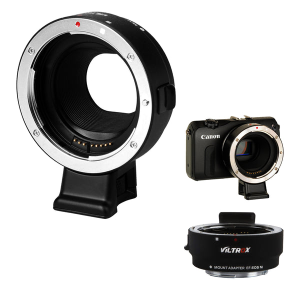VILTROX EF-EOS M Lens Mount Auto Focus Adapter - for Canon EOS (EF/EF-S) D/SLR Lens to Canon EOS M (EF-M Mount) Mirrorless Camera Body EOS M100 M50 M3 M10 M6 M5