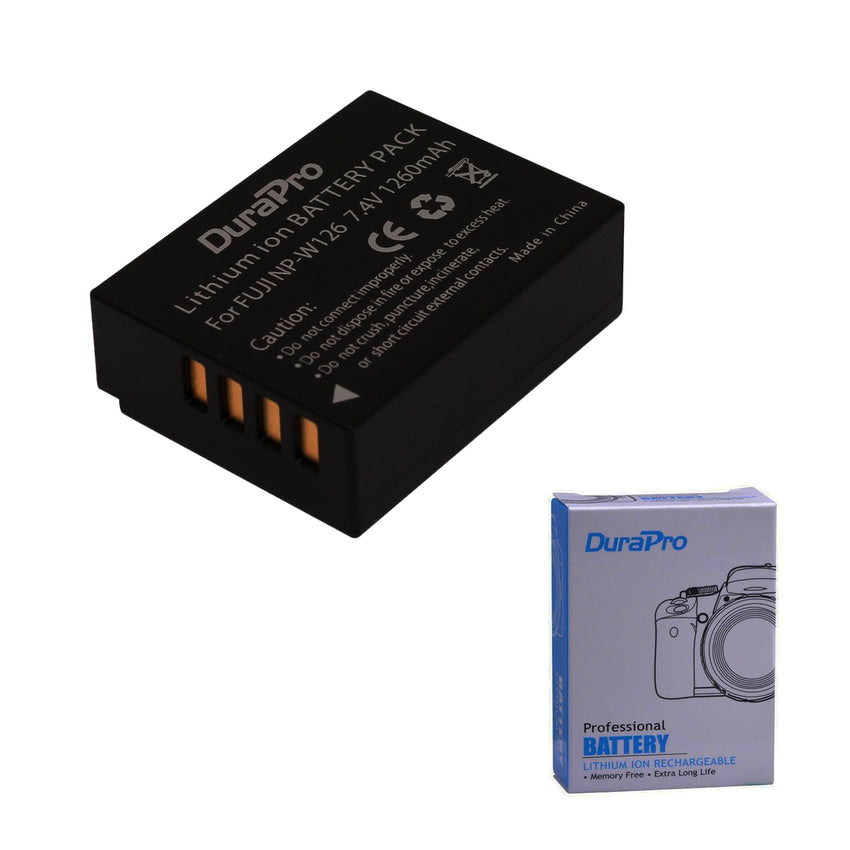 Durapro NP-W126 W126 NPW126 Rechargeable Battery for Fujifilm FinePix HS30EXR HS33EXR X-Pro1 X-E1 X-E2 X-M1 X-A1 X-A2 X-T1 X-T10