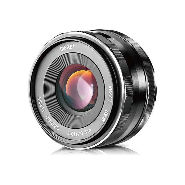 MEIKE 35mm 1.7 WITH FREE LENS HOOD Large Aperture Manual Focus Prime Lens APS-C  for SONY
