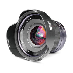 Meike 12mm F/2.8 Ultra Wide Angle Manual Focus Prime Lens for Fujifilm APS-C Mirrorless Cameras