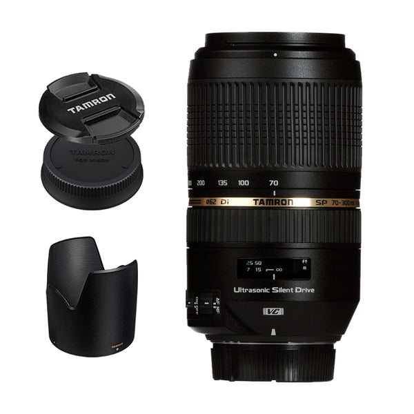 Tamron A005 SP 70-300mm f/4-5.6 Di VC USD Telephoto Zoom Lens for Canon DSLR EF Mount Full Frame