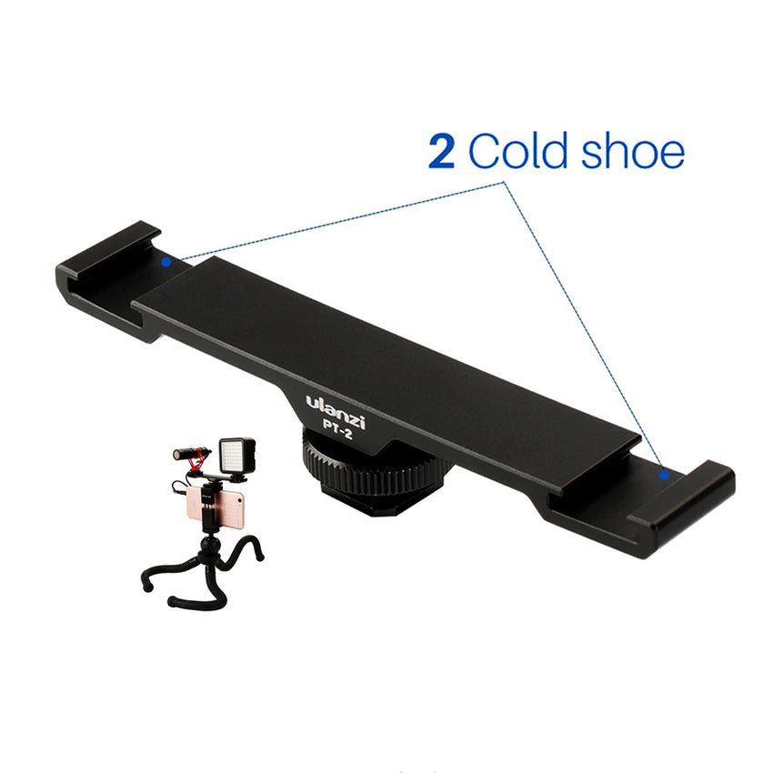 Ulanzi PT-2 Dual Cold Shoe Extensior Bar Plate