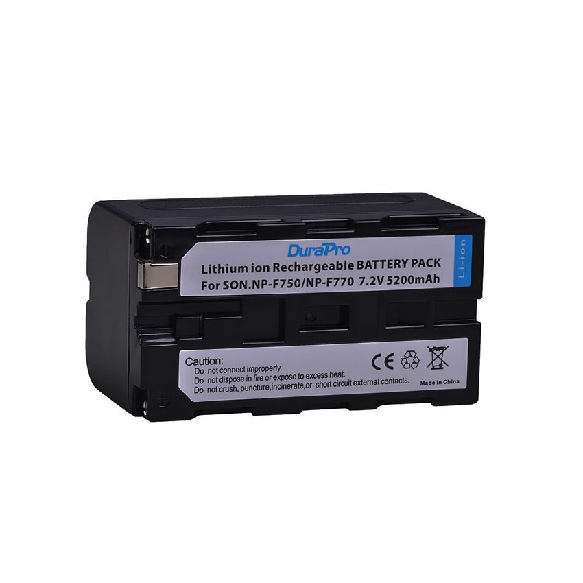 DuraPro 5200mAH NP-F750 NP-F770 Camera Battery