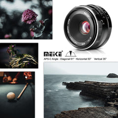Meike 25mm 1.8 Wide Angle Manual Lens for Sony E mount Mirrorless Cameras