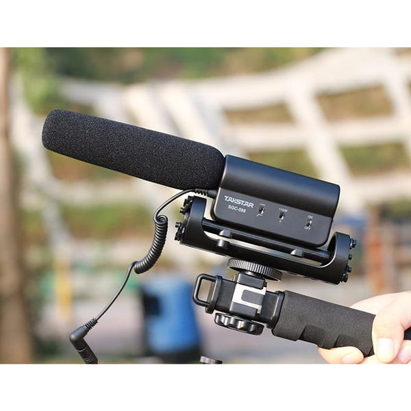 TAKSTAR SGC-598 Interview Camera Microphone Super-Cardioid Directional DSLR Microphone Photography Interview Lightweight Shotgun Mic for Nikon,Canon,DV, DSLR, Camcorder SGC 598