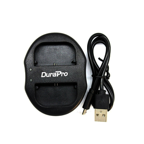 DuraPro Canon LP-E6 2pcs Battery and Dual USB Charger for Canon Cameras LPe6