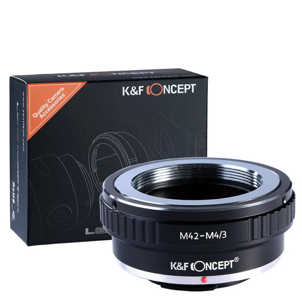 K&F Concept M42 Lenses to M43 MFT Mount Camera Adapter