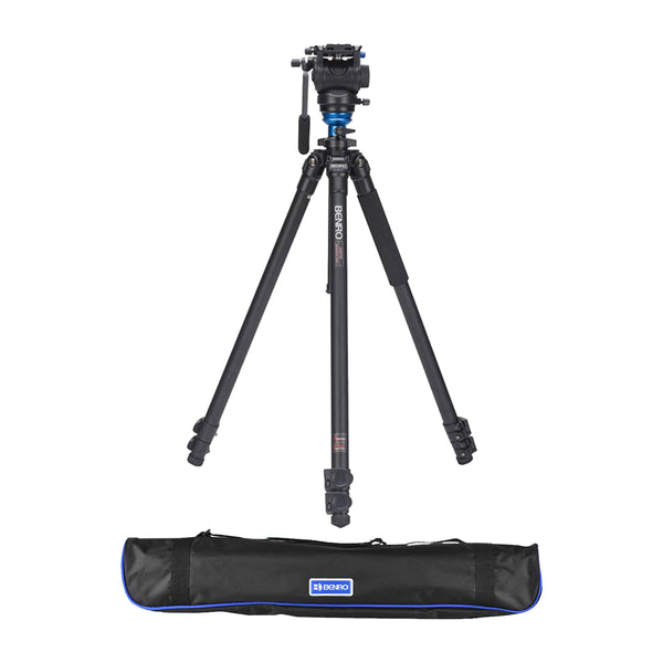 Benro S4 Single Leg Aluminum Video Tripod Kit (A2573FS4)