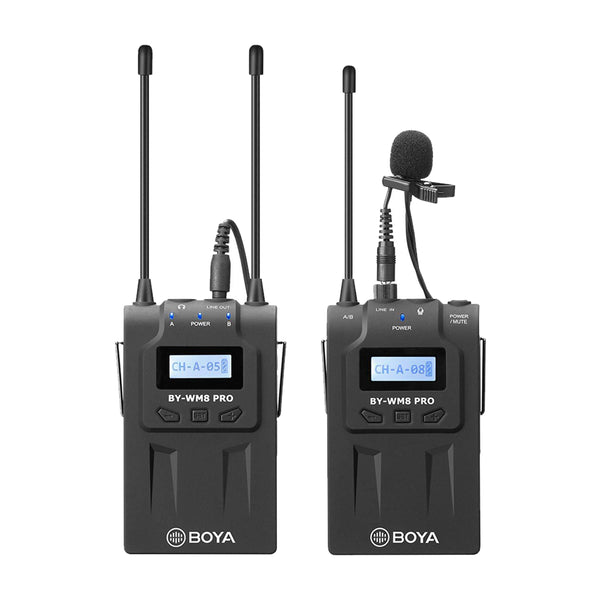 BOYA BY-WM8 PRO K1 UHF DUAL CHANNEL WIRELESS LAPEL RECEIVER WM8