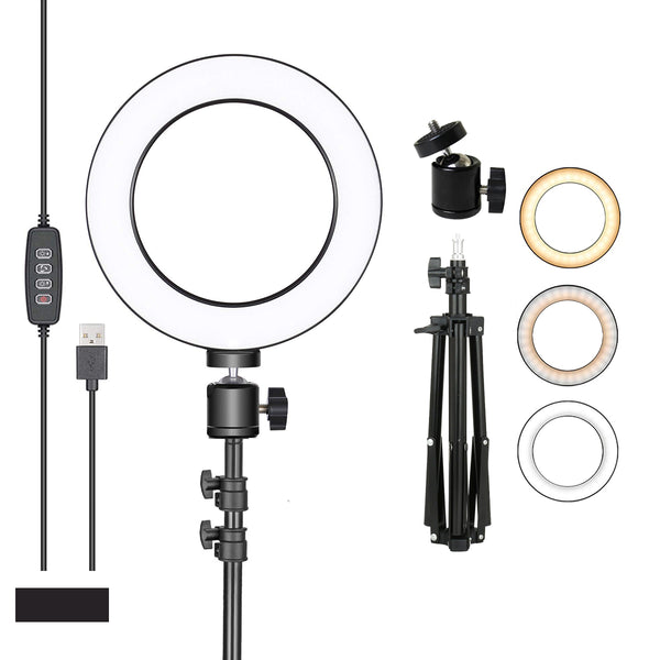 "RL-08 LED Ring Light 8"" 26cm Fill Light for Photography Vlogging Makeup 