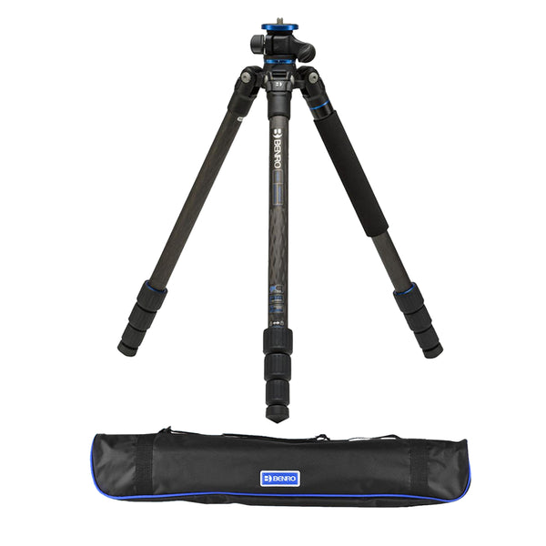 Benro FGP18C Go Plus 4-Section Carbon Fiber Travel Tripod