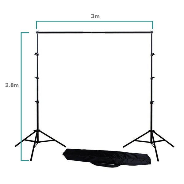 2.8m x 3m Background Stand for Studio Photography // Telescopic