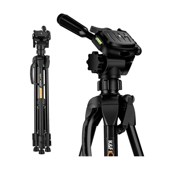 K&F Concept TL2023 Lightweight DSLR Mirrorless Camcorder Camera Aluminum Travel Professional Tripod - KF09.049
