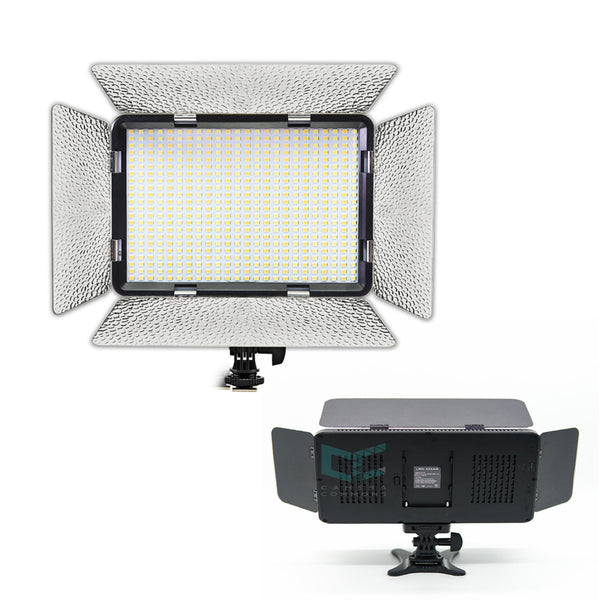 LED-528AS Video light with Barn Door Photography Light Panel for Canon Nikon Pentax Sony (Alpha) Olympus Fujifilm DSLR Camera DV Camcorder