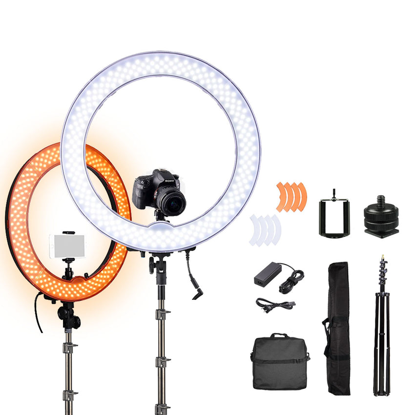 RL18 LED Ring Light 18 inches with FREE STAND / Beauty/ Lighting / Make Up / Photography/ Vlogging / Studio