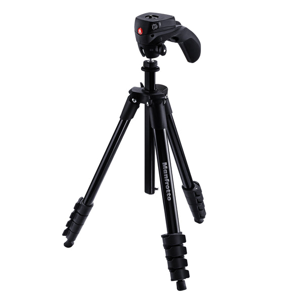 Manfrotto MKCOMPACTACN-BK Compact Action Aluminum Tripod Black