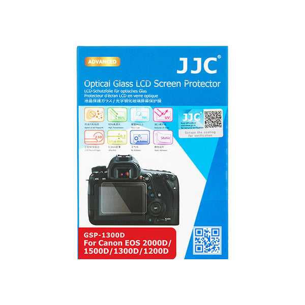 JJC Ultra-thin LCD Screen Protector for Canon EOS 2000D, 1500D, 1300D, 1200D (GSP-1300D)