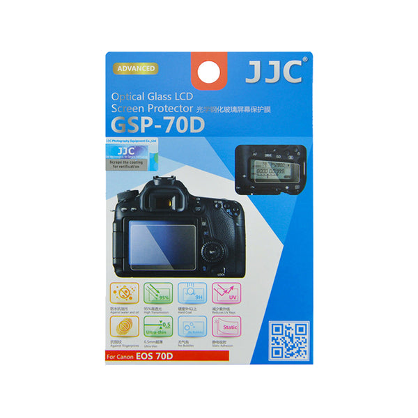 JJC Ultra-thin LCD Screen Protector for CANON EOS 90D, 70D, 80D (GSP-70D)