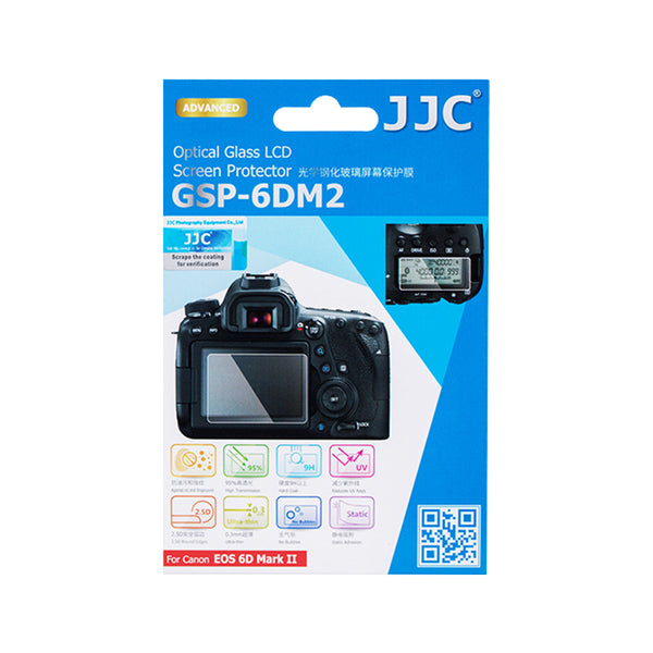 JJC Ultra-thin LCD Screen Protector for CANON EOS 6D Mark II (GSP-6DM2)