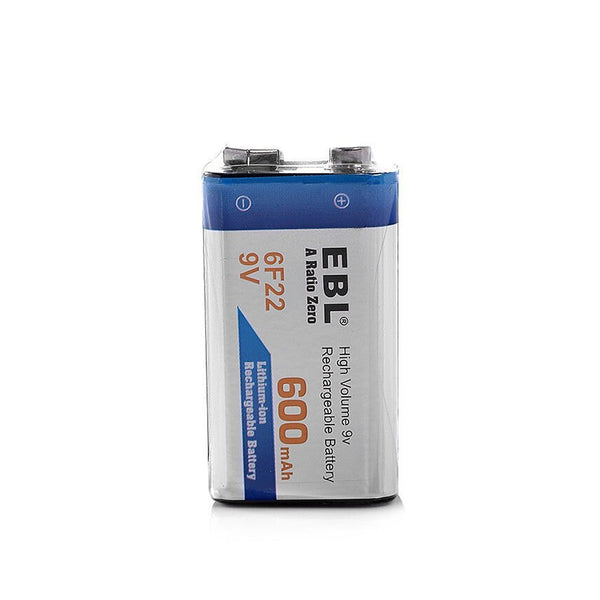 EBL 9V 600mAh Rechargeable battery - Lithium Ion
