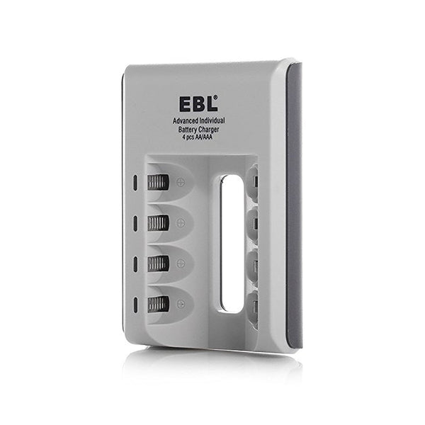 EBL 4 Bay LED Smart Battery Charger for AA , AAA , Ni-MH , Ni-CD Rechargeable Batteries NiMH NiCD Camera Commons PH