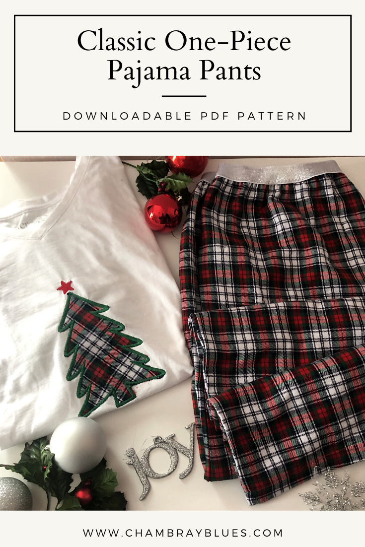 Classic One-Piece Pajama Pants Pattern (Sizes 1XL-6XL) - Digital Download (PDF)