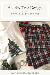 Holiday Tree Cut File - Digital Download