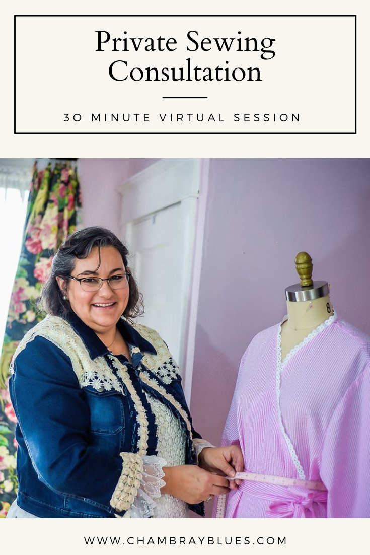 Private Sewing Consultation (30-Minute Virtual Session)