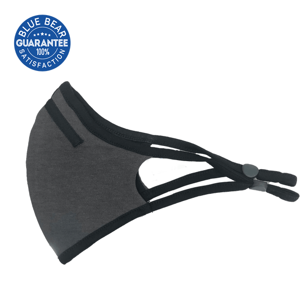 grey sports face mask side view