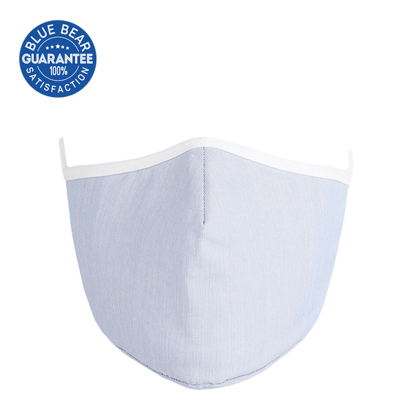 Solid Pale Blue Cloth Face Mask - Adult