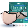 peach nude colored eco washable and reusable face mask with packaging