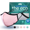pink eco washable and reusable face mask with packaging