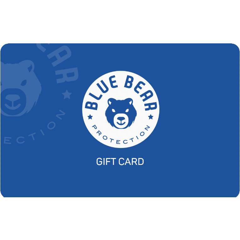 Blue Gift Card with Blue Bear Logo