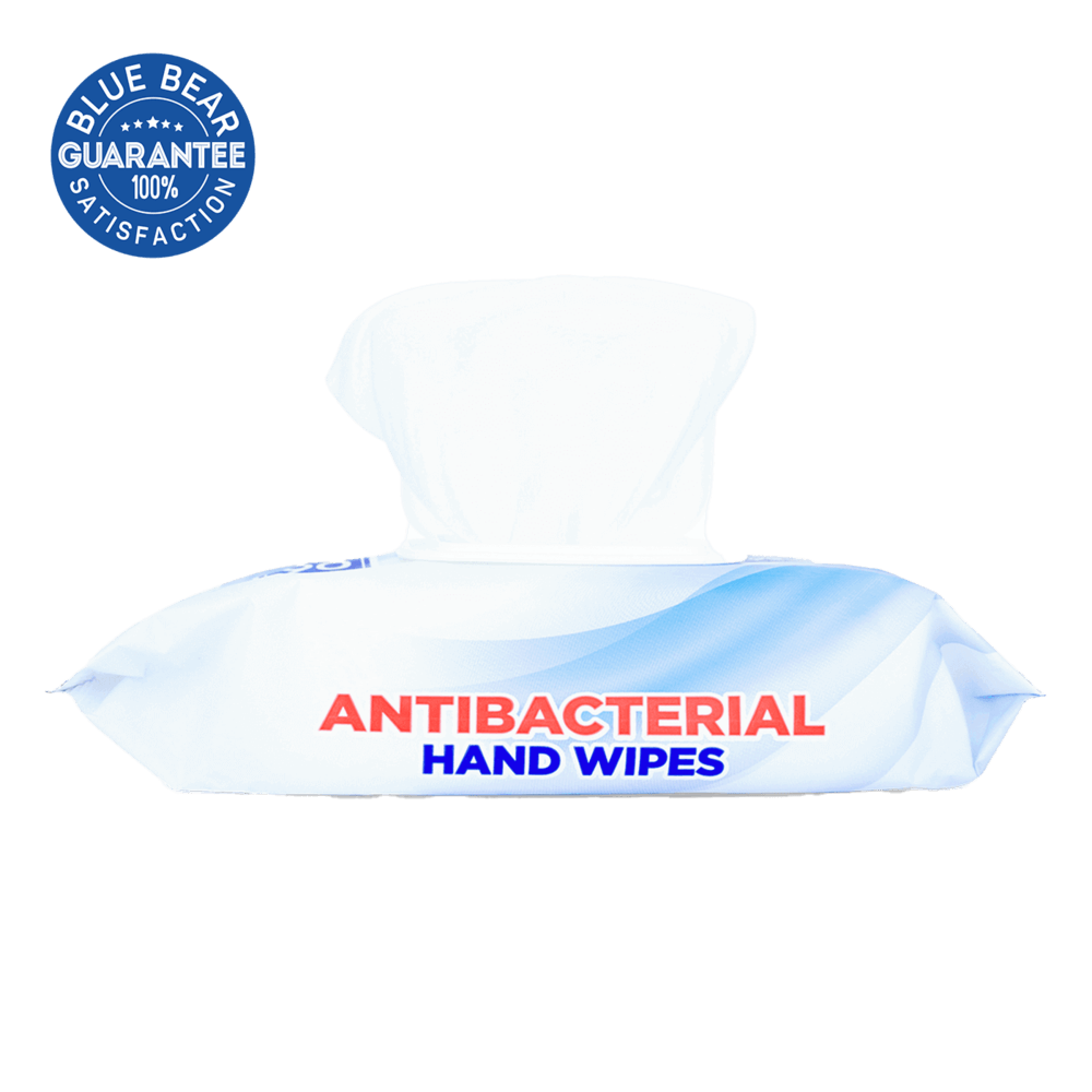 Antibacterial Hand Wipes In a Package Side View