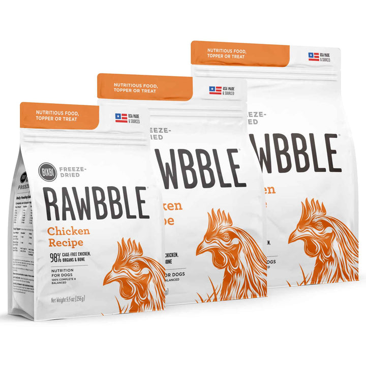 Rawbble Grain Free Chicken<br>Limited Ingredient<br>Freeze Dried Dog Food/Toppers/Treats