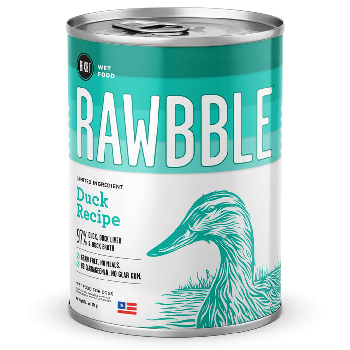 Rawbble Grain Free Duck<br>Limited Ingredient Wet Dog Food