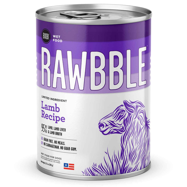 Rawbble Grain Free Lamb<br>Limited Ingredient Wet Dog Food