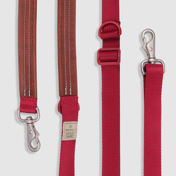 Multi-Function Dog Leash<br>Red