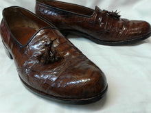 Load image into Gallery viewer, Genuine Crocodile Men's Shoes. Tassel Loafer. Preowned Excellent Condition. 9 Med $199