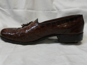 Genuine Crocodile Men's Shoes. Tassel Loafer. Preowned Excellent Condition. 9 Med $199