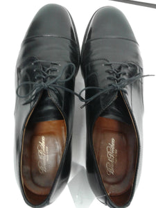 Brooks Brothers Men's Shoes Captoe 11 D Black Leather Preowned $195