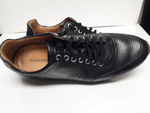 Load image into Gallery viewer, Magnanni Black Perforated Sport Shoe, 8 Med. $99.50.