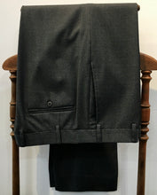 Load image into Gallery viewer, Zanella Flat Front Charcoal Grey Speckle  Fine Wool 36x29 Made In Italy $95.00
