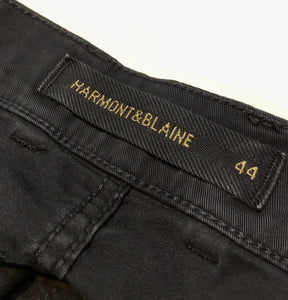 Harmont & Blaine Men's N Fit Stetch Denim Jean, Black Denim, 32 x 33. $94.50.