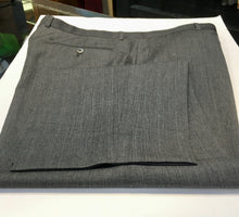 Load image into Gallery viewer, Zanella Mens Pants Charcoal Windowpane, Handmade in Italy, 4 0 x 3 2. Preowned, excellent condition, $79.50