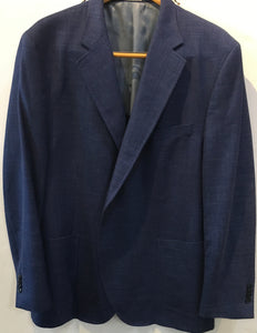 Peter Millar Men's Sport Coat, Silk-Wool-Linen Blend, Blue Striated Pattern 48 Reg
