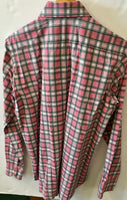 Etro Mens Shirt, check print,  pink-white-grey, large, made in Italy, Preowned, excellent condition, $79.50