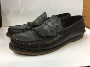 Salvatore Ferragamo Men's Shoes. Brown Pebble Grain Kiltie Penny Loafer 12 D Hardly Worn $185